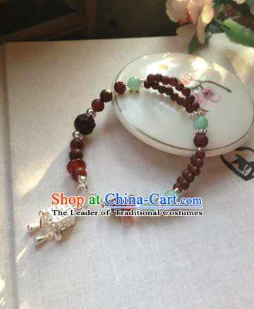 Chinese Ancient Handmade Accessories Hanfu Beads Chain Bracelets for Women