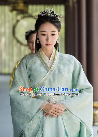 Chinese Ancient Five Dynasties and Ten Kingdoms Princess Hanfu Dress Replica Costume for Women