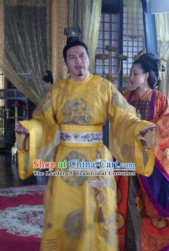 Chinese Ancient  Five Dynasties and Ten Kingdoms Chu Emperor Imperial Robe Replica Costume for Men