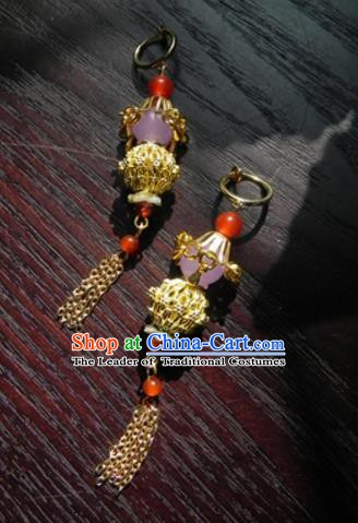 Chinese Handmade Ancient Accessories Eardrop Hanfu Earrings for Women
