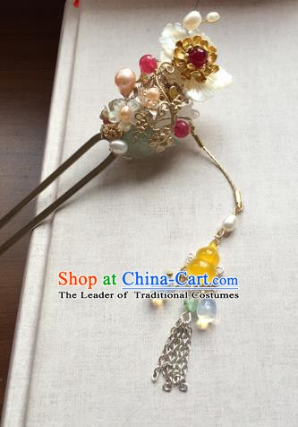 Chinese Ancient Hanfu Handmade Hairpins Hair Accessories Tassel Hair Clip for Women