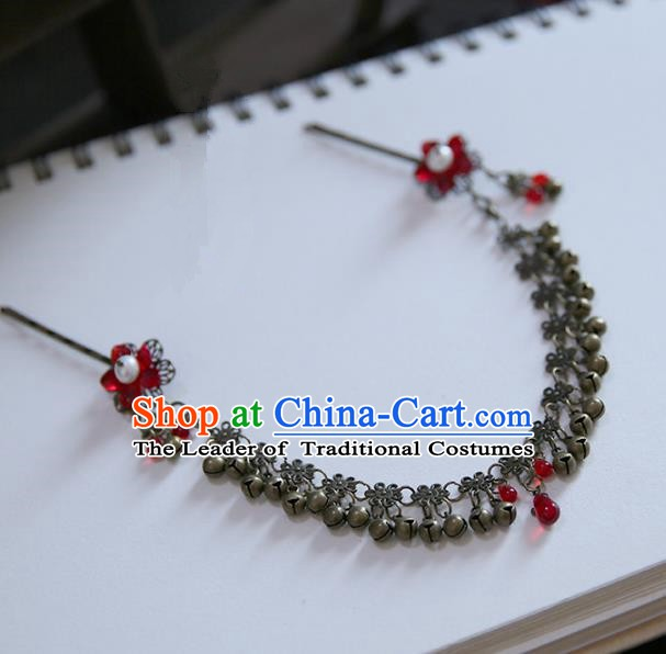 Chinese Ancient Handmade Hanfu Frontlet Hairpins Palace Lady Hair Accessories for Women