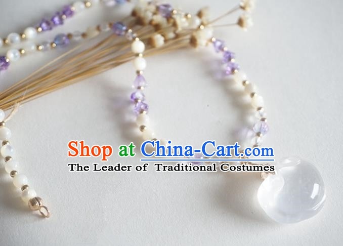 Chinese Handmade Ancient Jewelry Accessories Necklace Hanfu Jade Necklet for Women