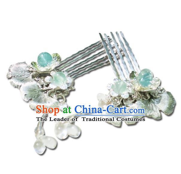 Chinese Ancient Handmade Hanfu Tassel Hair Combs Hairpins Hair Accessories for Women