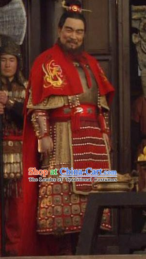 Chinese Ancient Eastern Han Dynasty Prime Minister Cao Cao Historical Costume for Men