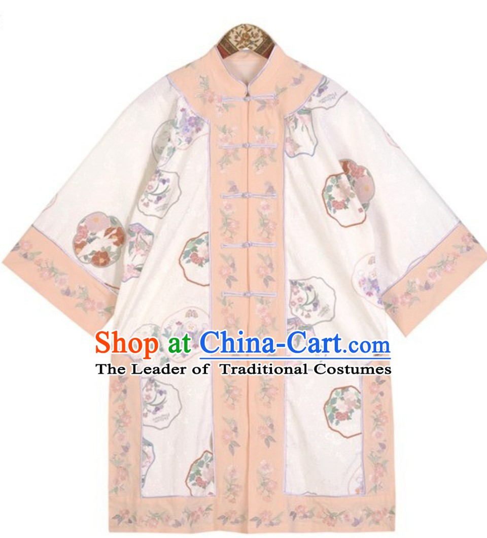 Top Crouching Tiger Hidden Dragon Style Tai Chi Kongfu Taiji Long Blouse