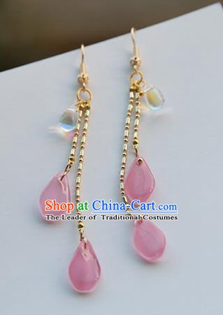 Chinese Handmade Ancient Jewelry Accessories Tassel Eardrop Hanfu Earrings for Women