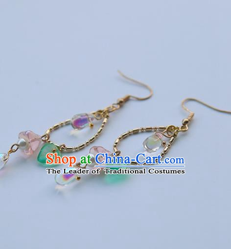 Chinese Ancient Jewelry Accessories Handmade Eardrop Hanfu Earrings for Women