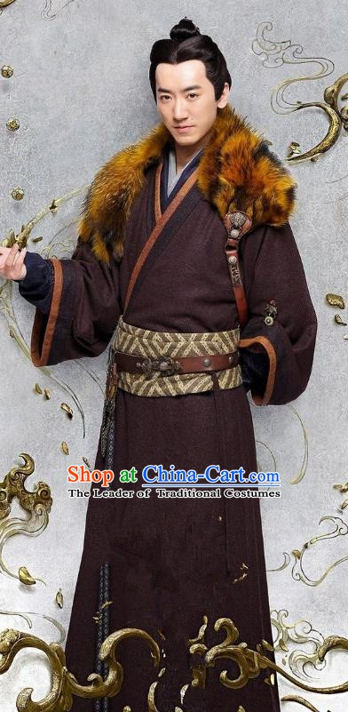 Ancient Chinese Three Kingdoms Period General Yang Xiu Historical Costume for Men