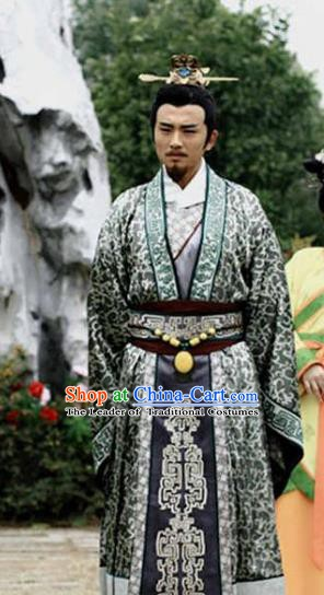 Ancient Chinese Three Kingdoms Period Wei State Emperor Cao Pi Historical Costume for Men