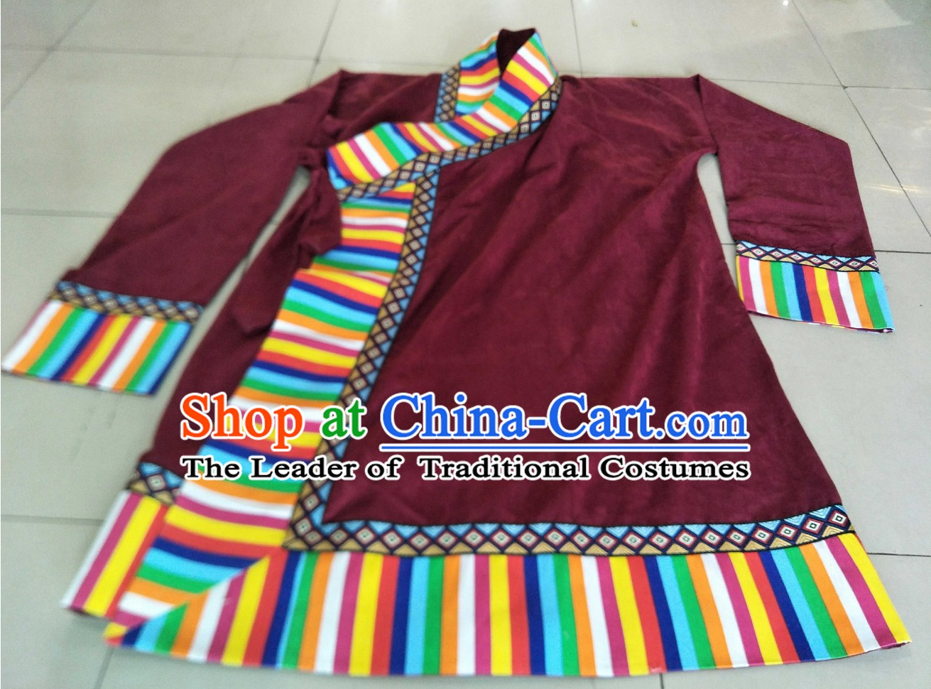 Top Handmade Traditional Tibetan Long Robe for Men