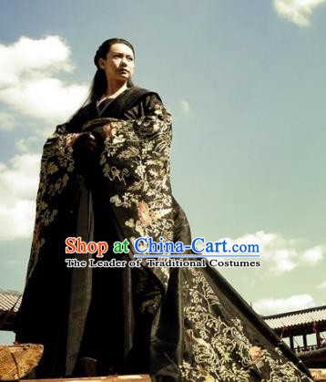 Ancient Chinese Warring States Period Wei State Princess Jinshu Hanfu Embroidered Replica Costume for Women