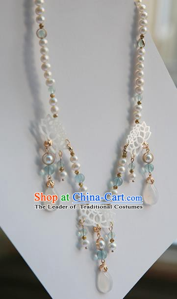Ancient Chinese Handmade Hanfu Necklace Accessories Shell Necklet for Women