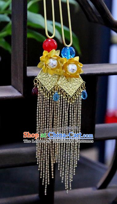 Chinese Ancient Hanfu Handmade Tassel Hairpins Step Shake Hair Accessories for Women