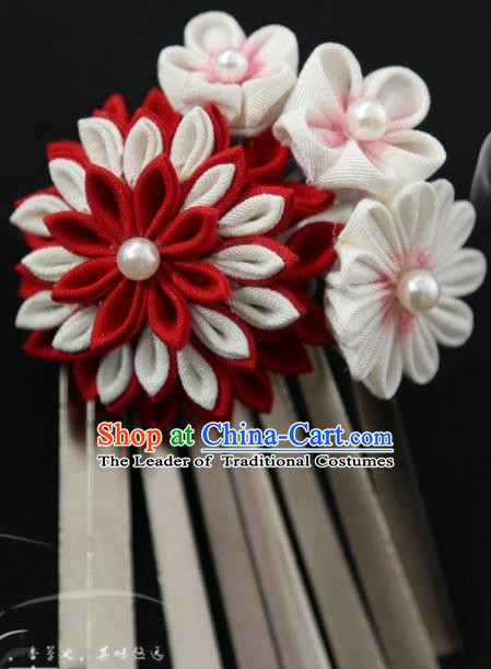 Traditional Asian Japan Courtesan Hair Accessories Hairpins Japanese Kimono Headwear for Women