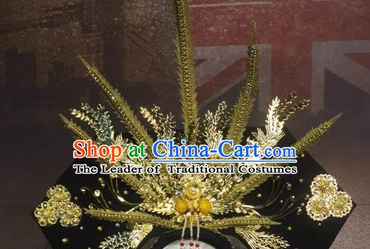Top Grade Handmade Palace Hair Accessories Chinese Style Stage Performance Catwalks Headwear for Women
