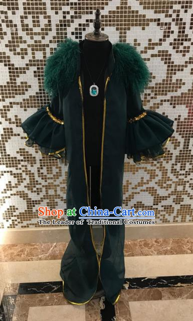 Top Grade Children Stage Performance Costume Catwalks Green Clothing for Kids