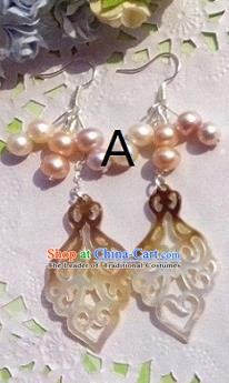 Traditional Chinese Ancient Jewellery Accessories Earrings Pearls Eardrop for Women