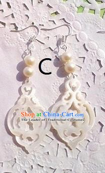 Traditional Chinese Ancient Jewellery Accessories Earrings White Pearls Eardrop for Women