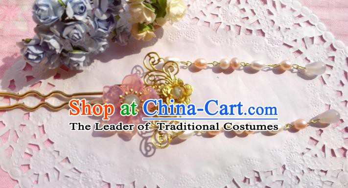Traditional Chinese Ancient Hair Accessories Flowers Hairpins Hair Jewellery Headwear for Women