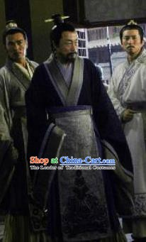 Ancient Chinese Han Dynasty Founding Emperor Liu Bang Replica Costumes for Men