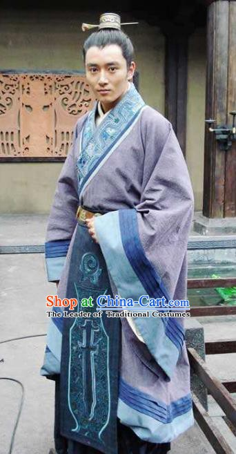 Ancient Chinese Qin Dynasty Swordsman General Meng Yi Replica Costume for Men