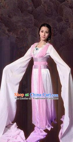 Ancient Chinese Qin Dynasty Palace Lady Dance Hanfu Dress Replica Costume for Women