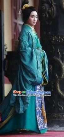 Chinese Ancient Eastern Han Dynasty Stateswoman Empress Deng Sui Hanfu Dress Replica Costume for Women