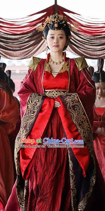 Nirvana in Fire Chinese Northern and Southern Dynasties Empress Xun Hanfu Dress Replica Costume for Women