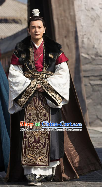 Ancient Chinese Nirvana in Fire General Marshal Xiao Pingzhang Replica Costume for Men
