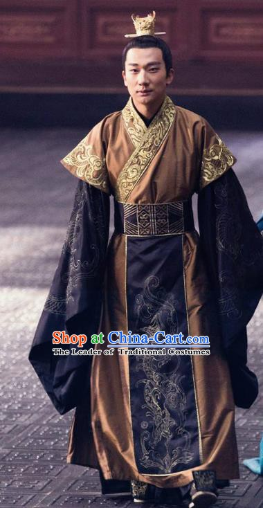 Ancient Chinese Nirvana in Fire Northern and Southern Dynasties Royal Highness Xiao Yuanqi Replica Costume for Men
