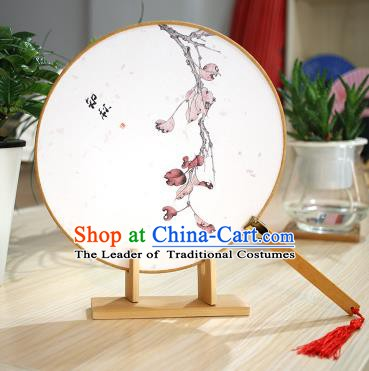 Chinese Traditional Round Fans Handmade Printing Circular Fan China Ancient Palace Fans