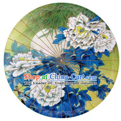 Chinese Traditional Artware Paper Umbrella Classical Dance Yellow Oil-paper Umbrella Handmade Umbrella