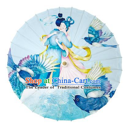 Chinese Traditional Artware Paper Umbrella Classical Dance Umbrella Chinese Myth Oil-paper Umbrella Handmade Umbrella