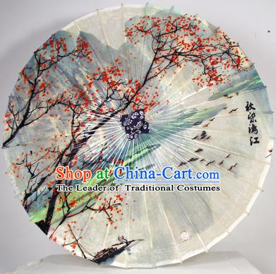 Chinese Traditional Artware Paper Umbrella Classical Dance Umbrella Lijiang River Scenery Oil-paper Umbrella Handmade Umbrella