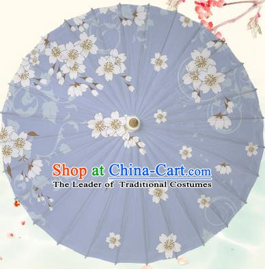 Chinese Traditional Artware Lilac Paper Umbrella Classical Dance Printing Peach Blossom Oil-paper Umbrella Handmade Umbrella