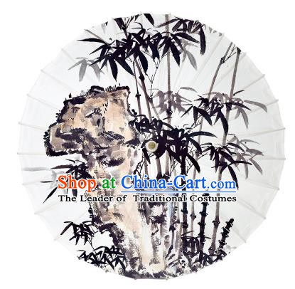 Chinese Traditional Artware Ink Painting Bamboo Paper Umbrella Oil-paper Umbrella Handmade Umbrella