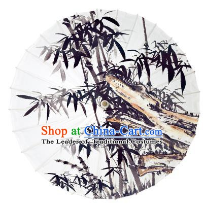 Chinese Traditional Artware Ink Wash Painting Bamboo Paper Umbrella Oil-paper Umbrella Handmade Umbrella