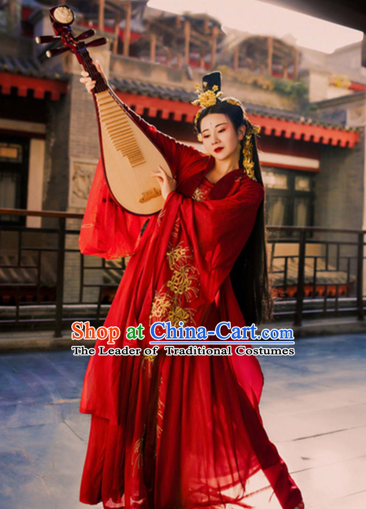 Ancient Chinese Classical Dance Costumes  Complete Set for Women Girls