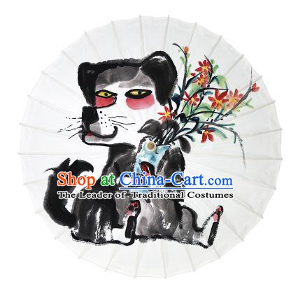 Chinese Traditional Artware Dance Umbrella Ink Painting Gog Paper Umbrellas Oil-paper Umbrella Handmade Umbrella