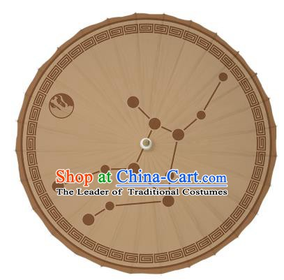 Chinese Traditional Artware Dance Umbrella Ink Painting Zodiac Virgo Paper Umbrellas Oil-paper Umbrella Handmade Umbrella