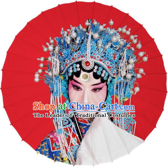 Chinese Traditional Artware Dance Umbrella Red Paper Umbrellas Oil-paper Umbrella Handmade Umbrella