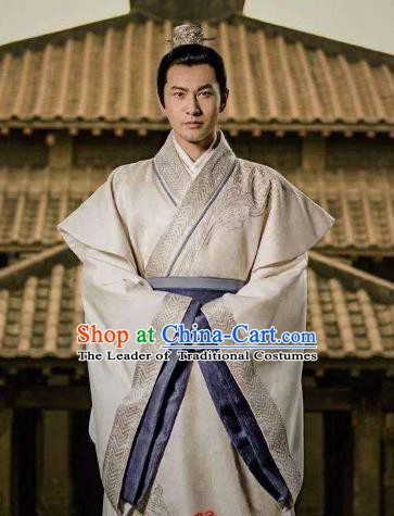 Nirvana in Fire Chinese Ancient Liang State General Swordsman Xiao Pingzhang Replica Costume for Men