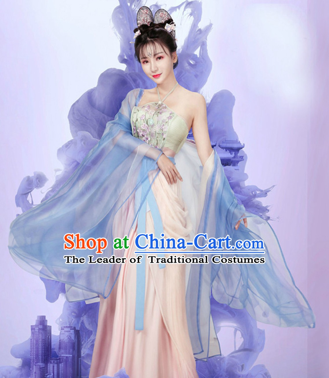 Ancient Chinese Sexy Theater and Reenactment Costumes Hanzhuang Hanfu for Women