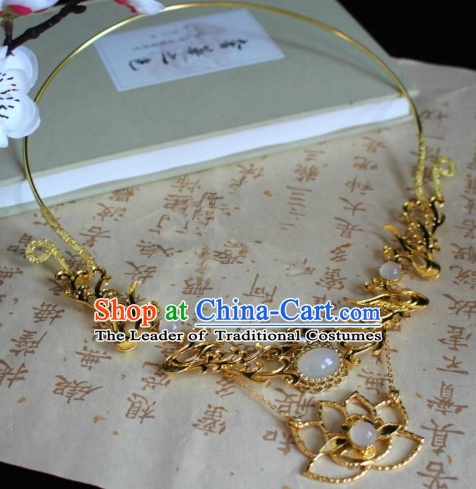 Chinese Handmade Classical Accessories Phoenix Necklace Hanfu Necklet for Women