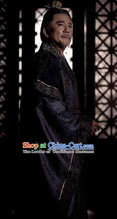 Nirvana in Fire Chinese Ancient Marquis Liang State General Xiao Tingsheng Embroidered Replica Costume for Men