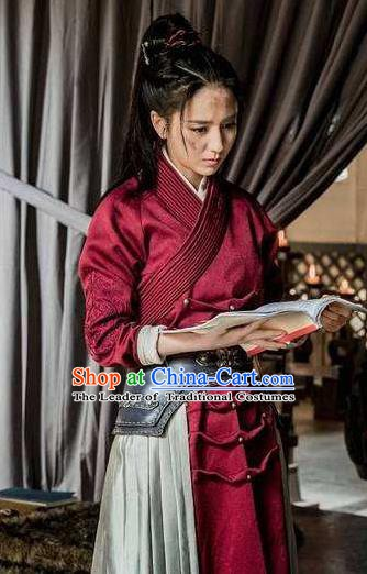 Nirvana in Fire Ancient Chinese Female Swordsman Meng Qianxue Replica Costume for Women