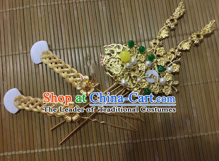 Traditional Chinese Ancient Hair Accessories Hairpins for Kids