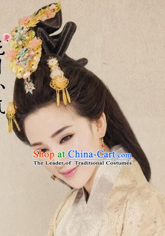 Traditional Chinese Ancient Queen Hair Accessories Hairpins Hair Coronet for Women