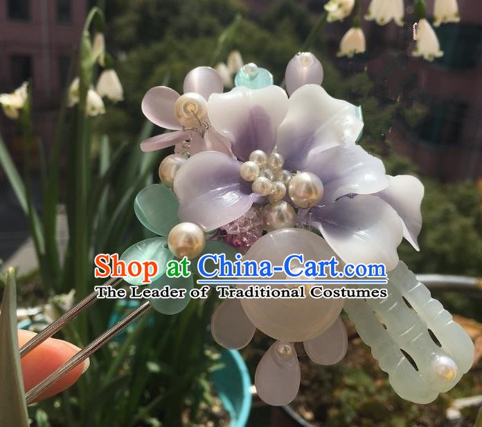 Traditional Chinese Ancient Queen Hair Accessories Hairpins Jade Hair Stick for Women